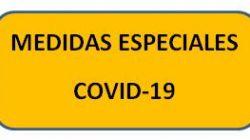Medidas especiales COVID-19